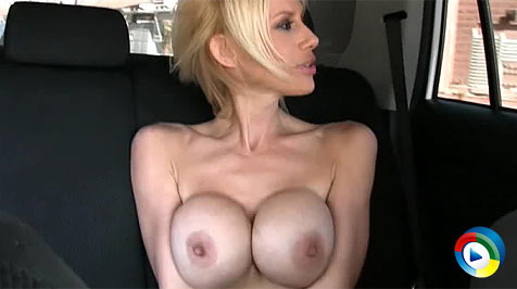 Big-boobed blonde babe, Kylie Worthy,has a blast flashing unsuspecting drivers on a drive around town! from Aziani Xposed