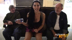 Brianna Jordan takes off her bra and panties in the Taxi Cab