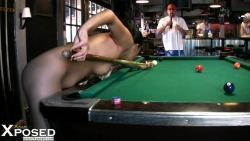 Cassidey is a Naked Billiards Babe